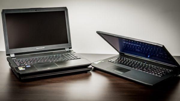 Eluktronics Laptops on a table