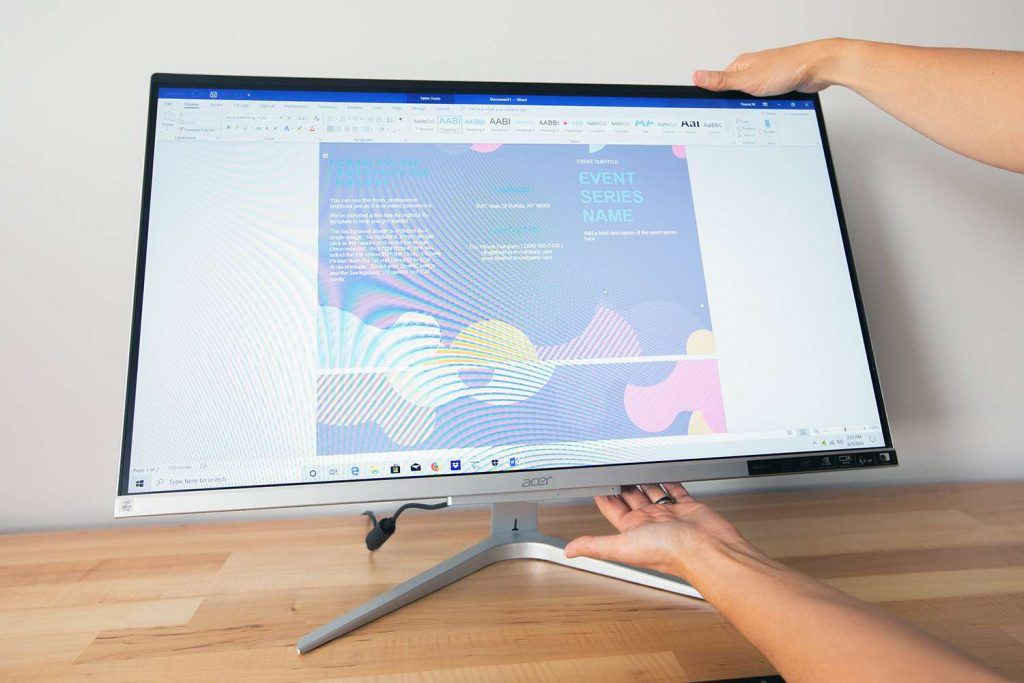 Acer All In One Desktop on a table
